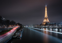 Tourist Trail (Photo Lab by Ross Farnham) Tags: eiffel tower paris france light trails sony 1635mm f4 lee filters wide angle cityscape nightshot