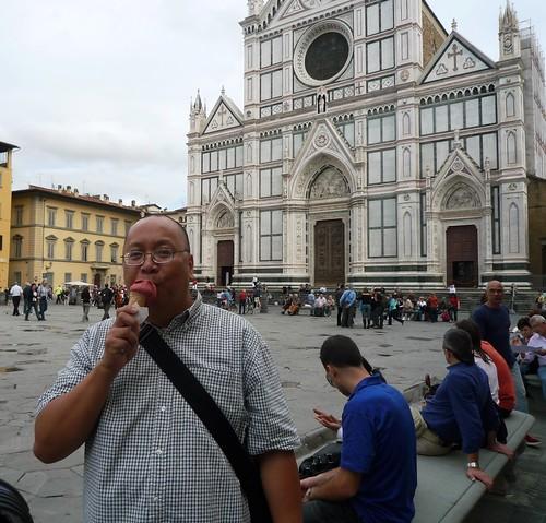 Gelato at Piazza Santa Croce