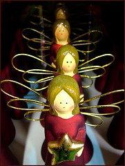 Angels are Gathering (jo92photos) Tags: christmas uk winter decorations england macro angels christmasdecorations gathering s7000 shops berkshire christmastreedecorations allrightsreserved decoratons jo92photos