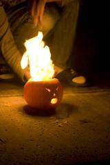 pyro pumpkin (drag017fly) Tags: pumpkin fire october 365 pyro 2009 wd40 project365