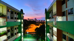 The Afterlights (J-Chan) Tags: singapore cityscapes flats hdb highdynamic lx3