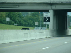 HOV is gone (riffsyphon1024) Tags: tn tennessee ontheroad i65 ends whitediamond williamsoncounty hovlane interstate65