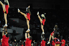 2009 11 04_8292.jpg (kylures) Tags: basketball cheerleaders dancers spirit knights louisville ncaa ladybirds ul cardinals bellarmine uofl freedomhall ncaabasketball collegecheerleaders