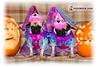 Ellen & Portia (Яick Harris) Tags: pugs pugoween pugalugcom
