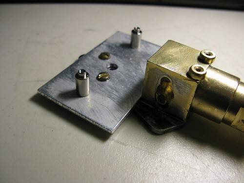 Stepper motor mount.