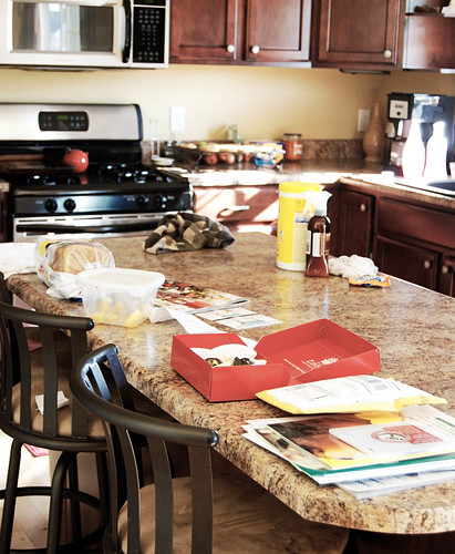 kitchen with a little mess
