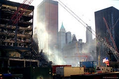 Ground Zero, New York City. October 26, 2001. (Rob Sheridan) Tags: world new york city nyc manhattan 911 attack terrorist ground center terrorism wtc trade zero