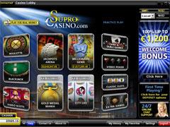 Supro Casino Lobby