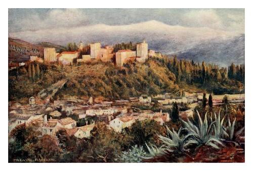 031-Granada-La Alhambra desde San Miguel-Southern Spain 1908- Trevor Haddon