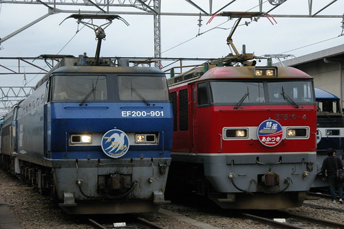 EF200series and EF510series in Suita rail yard,Suita,Osaka,Japan 2009/11/22