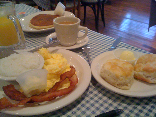Blue Plate Cafe breakfast, Memphis, Tenn.