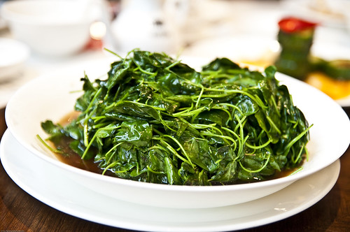 "Chaotou (""Grass Head"") Seasonal Vegetable cooked with Baijiu and Meikueilu"