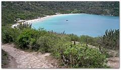 Beach on the Other Side (tomebug) Tags: blue brazil beach water stairs path hill hiddenbeach arraialdocabo