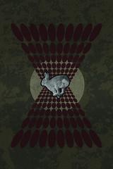 Run Rabbit Run (MongeyMongey) Tags: brown rabbit art circle lost design graphic run pinkfloyd