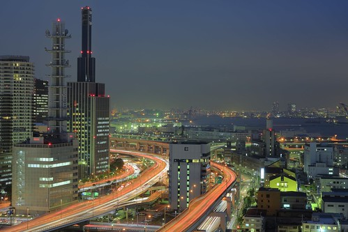 Night view of Kobe HDR