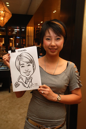 Caricature live sketching for Chanel Day 1 - 5