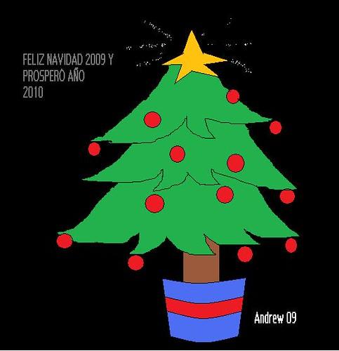 felicitación navidad arbol