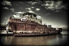 San Pedro Sound (SegiY) Tags: boat nikon rust ship tasmania hdr bridport d700 sanpedrosound