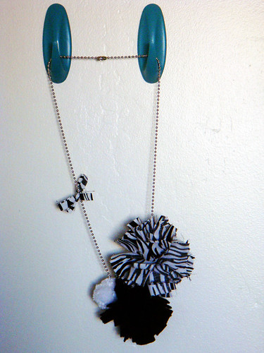Fabric Pom-pom Necklace