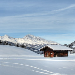 Sweet Home # 3 (Marcel Cavelti) Tags: winter house snow alps landscape schweiz switzerland cottage swissalps calanda sweethome graubnden grisons swissmountain superaplus aplusphoto parpan canong11