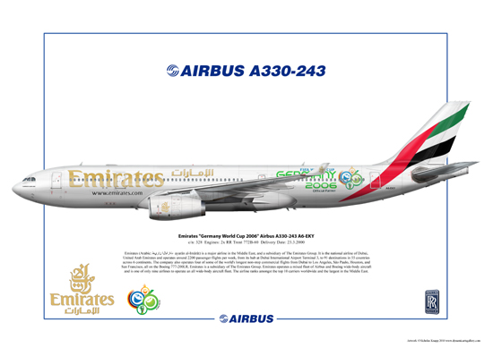 "Emirates ""Germany World Cup 2006"" Airbus A330-243 A6-EKY"