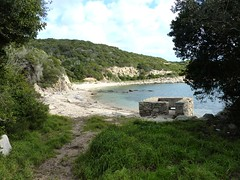 Arrivée à la Cala Sciumara : la plage