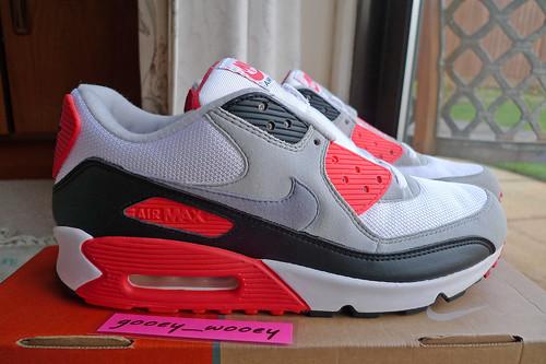 71922435dec Nike Air Max 90 Classic  Infrared  HOA (313096 101) ( 05
