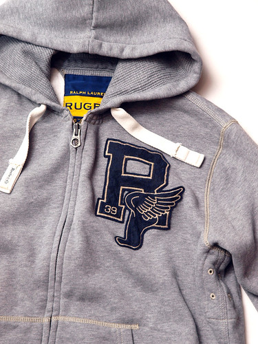 Rugby / Fleece Waffle-Lined R Hoodie