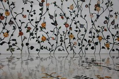 Mosque wall (Tom Olliver) Tags: flowers reflection wall uae mosque abudhabi inlay grandmosque sheikhzayedbinsultanalnahyanmosque
