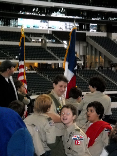 Boy Scouts on hand to present the colors