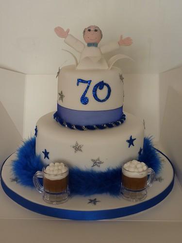 70th Birthday Cake Beer Loving 70 Year Old