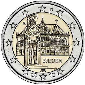2 Euro Nemecko 2010, Brémy