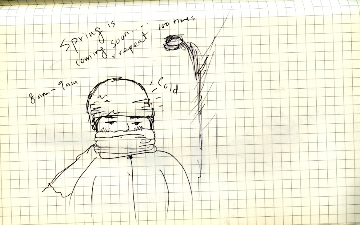 8am - 9am Hourly Comic