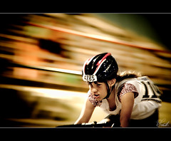Determination At Its Core (Wil_Bloodworth) Tags: blur girl bike bicycle race speed drive dallas nikon texas helmet competition passion determined ambition frisco racer intensity determination competitor superdrome bokehlicious