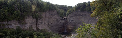 taughannock pano (Chandler Photography) Tags: summer brown white nature water rock outdoors warm upstateny falls cropped ulysses taughannockfalls zoomed panograph