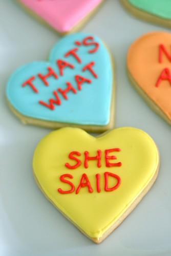 Conversation Heart Cookies | Annie's Eats