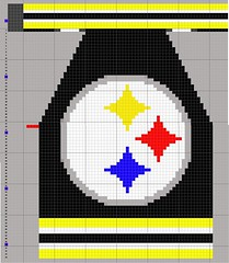 Steelers Letterman Jacket - pattern
