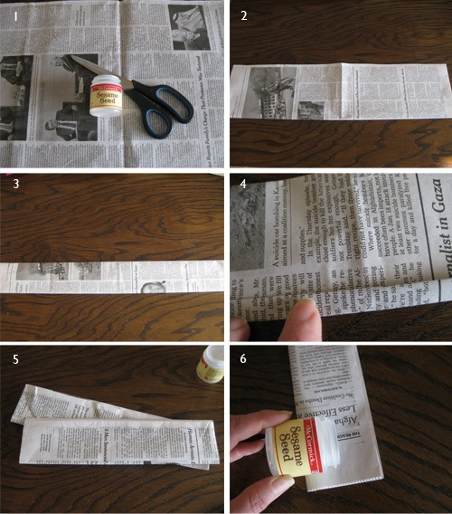 Newspaper Seed Pot Tutorial1