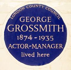 Photo of George Grossmith Junior blue plaque