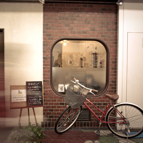 Cafe Window, Bicycle and Blur