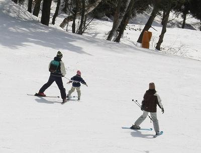 一緒にスキー