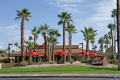 Del Taco - Palm Springs (California USA) (Meteorry) Tags: california ca food usa grass america restaurant paradise december unitedstates unitedstatesofamerica fastfood tacos palmsprings mexican palmtrees valley coachellavalley drivethru 2009 burritos deltaco riversidecounty meteorry eastramonroad