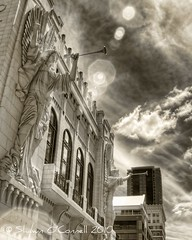 Bass Hall Angels (Shawn O'Connell Photography) Tags: sunlight ir texas angels infrared hdr fortworth basshall bassperformancehall
