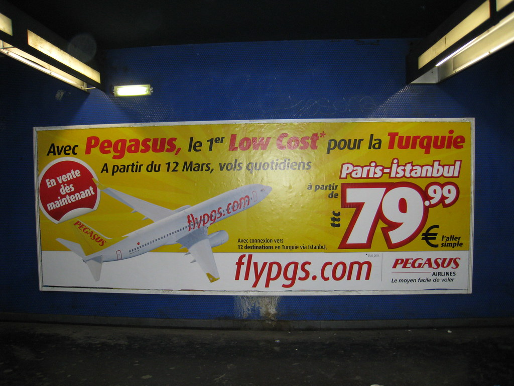 Translating the poster : With Pegasus, the first budget to Turkey