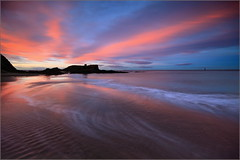 Seacliff Beach at sunset. (Devilineden) Tags: water rock photoshop canon scotland bass north smooth east seacliff lee dslr filters berwick lothian 50d eaos devilineden