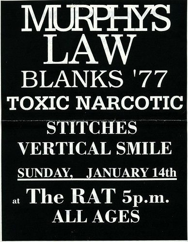 Murphys Law / Toxic Narcotic / Blanks 77 - The Rat - Flier