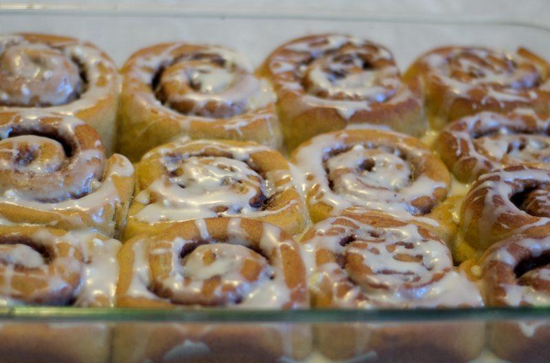 persimmon cinnamon rolls baked