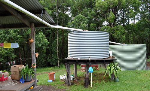 Water tanks connected to the kitchen at the retreat. Photo by Bobbi lee Hitchon