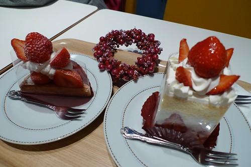 吃草莓蛋糕了