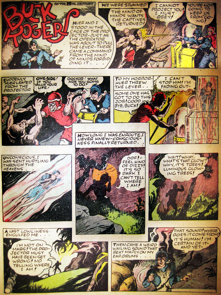 Buck Rogers Sunday Newspaper Strip 5574 - Ordlans Aliens (Brechtbug) Tags:  fiction news